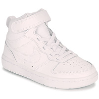 Shoes Children Low top trainers Nike COURT BOROUGH MID 2 PS White