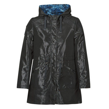 material Women Parkas One Step FR42001 Black