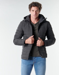 material Men Duffel coats Superdry HOODED FUJI JACKET Black