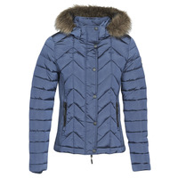 material Women Duffel coats Superdry LUXE FUJI PADDED JACKET Blue