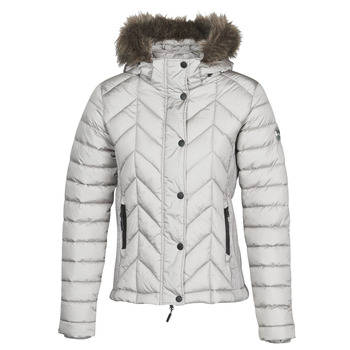 material Women Duffel coats Superdry LUXE FUJI PADDED JACKET Silver