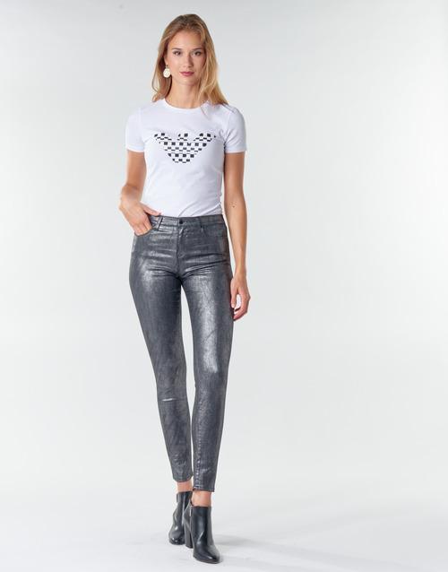 material Women 5-pocket trousers Emporio Armani 6H2J20 Grey / Silver