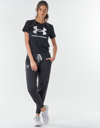 material Women Tracksuit bottoms Under Armour RIVAL FLEECE JOGGERS Black