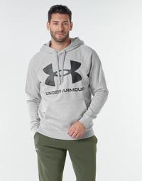 material Men sweaters Under Armour UA RIVAL FLEECE BIG LOGO HD Grey / Clear