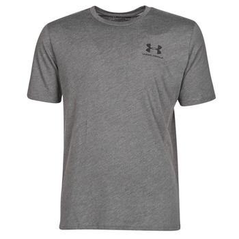 material Men short-sleeved t-shirts Under Armour SPORTSTYLE LEFT CHEST SS Grey