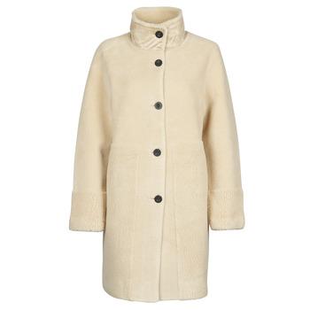 material Women coats Esprit LL* FAKE FUR Beige