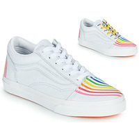 Shoes Girl Low top trainers Vans OLD SKOOL White
