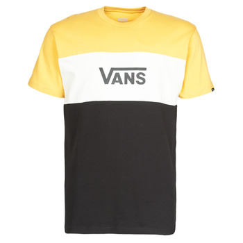 material Men short-sleeved t-shirts Vans RETRO ACTIVE SS Black / Yellow
