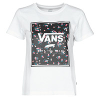 material Women short-sleeved t-shirts Vans BOXED IN BOXY White
