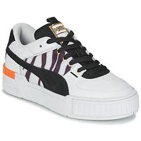 Shoes Women Low top trainers Puma CALI SPORT WILD White / Black