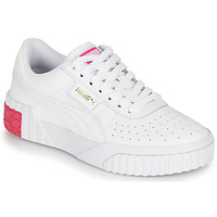 Shoes Girl Low top trainers Puma CALI JR White / Pink