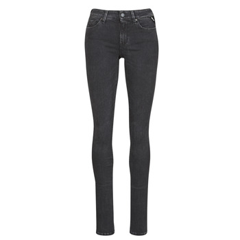 material Women slim jeans Replay LUZ / HYPERFLEX / RE-USED Black