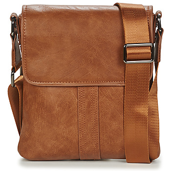 Bags Men Pouches / Clutches Casual Attitude LEONARDI Camel