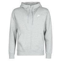 material Men sweaters Nike M NSW CLUB HOODIE FZ BB Grey