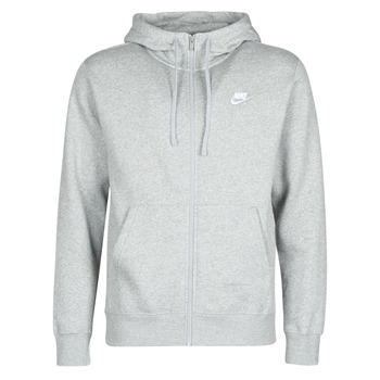 material Men sweaters Nike M NSW CLUB HOODIE FZ BB Grey