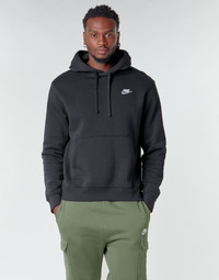 material Men sweaters Nike M NSW CLUB HOODIE PO BB Black / White