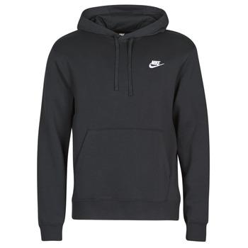 material Men sweaters Nike M NSW CLUB HOODIE PO BB Black / White