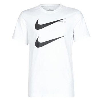 material Men short-sleeved t-shirts Nike M NSW SS TEE SWOOSH PK 2 White