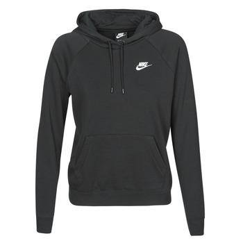 material Women sweaters Nike W NSW ESSNTL HOODIE PO FLC Black