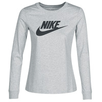 material Women Long sleeved shirts Nike W NSW TEE ESSNTL LS ICON FTR Grey