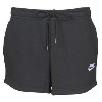 material Women Shorts / Bermudas Nike W NSW ESSNTL SHORT FT Black