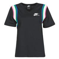 material Women short-sleeved t-shirts Nike W NSW HRTG TOP Black