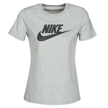 material Women short-sleeved t-shirts Nike W NSW TEE ESSNTL ICON FUTUR Grey