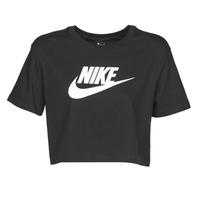 material Women short-sleeved t-shirts Nike W NSW TEE ESSNTL CRP ICN FTR Black