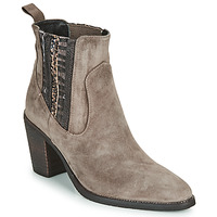 Shoes Women Ankle boots Regard ELCHE V4 VELOURS TALPA Beige