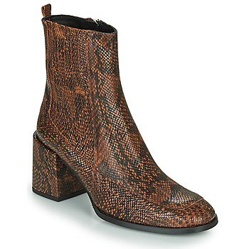 Shoes Women Ankle boots Fericelli NAKE Black / Brown