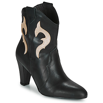 Shoes Women Ankle boots Fericelli NARLOTTE Black / Gold