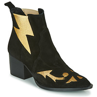 Shoes Women Ankle boots Fericelli NAUSSON Black / Gold