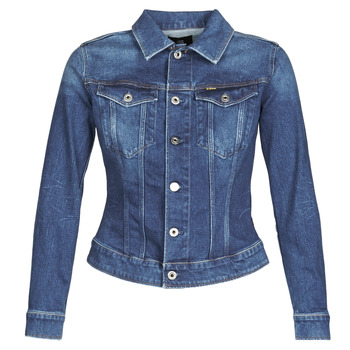 material Women Denim jackets G-Star Raw 3301 SLIM JKT WMN Faded / Stone