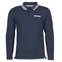material Men long-sleeved polo shirts Guess CLIVE LS POLO Marine