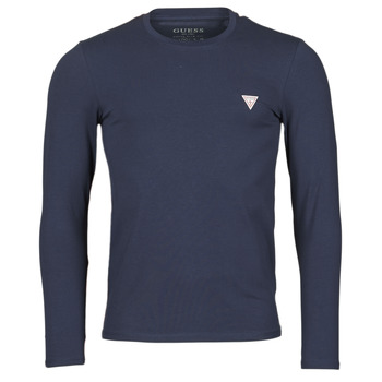 material Men Long sleeved shirts Guess CN LS CORE TEE Marine