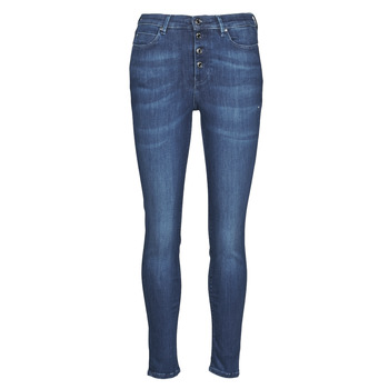 material Women slim jeans Guess 1981 EXPOSED BUTTON POWER Blue / Dark