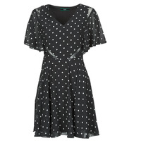 material Women Short Dresses Guess ELLA DRESS Black / White