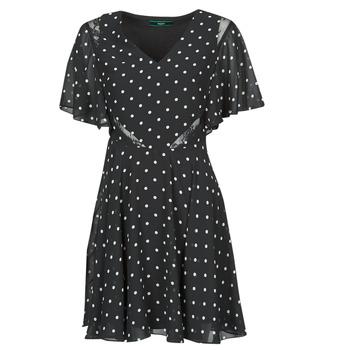 material Women Short Dresses Guess ELLA DRESS Black / White