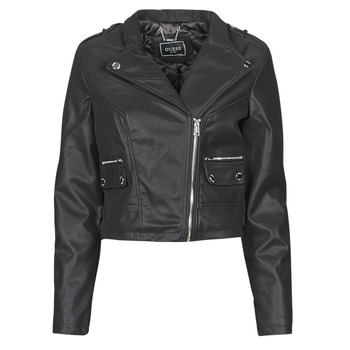 material Women Leather jackets / Imitation leather Guess FRANCES JACKET Black