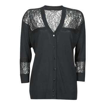 material Women Jackets / Cardigans Guess IRENE CARDI SWTR Black