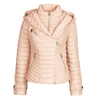 material Women Leather jackets / Imitation leather Guess BRETA Pink / Powder
