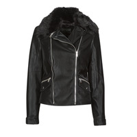 material Women Leather jackets / Imitation leather Guess CANTARA Black