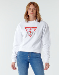 material Women sweaters Guess ICON FLEECE White