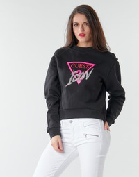 material Women sweaters Guess ICON FLEECE Black / Multicolour