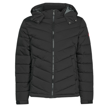 material Men Duffel coats Guess STRETCH PUFFA HOODED Black