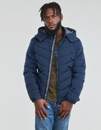 material Men Duffel coats Guess STRETCH PUFFA HOODED Marine