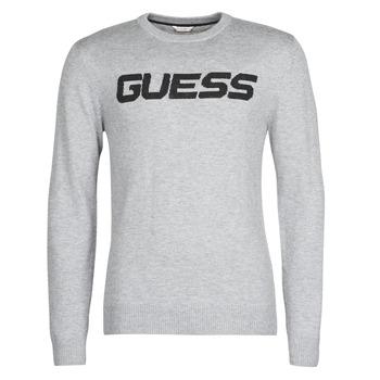 material Men jumpers Guess LOGO SWEATER Grey