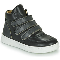 Shoes Boy High top trainers Citrouille et Compagnie NOSTI Black / Grey