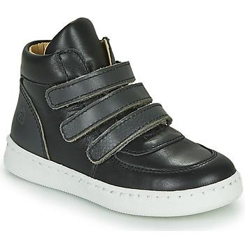Shoes Boy High top trainers Citrouille et Compagnie NOSTI Black / Grey