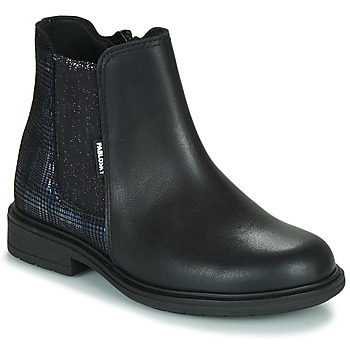 Shoes Girl Mid boots Pablosky 487612 Black / Blue